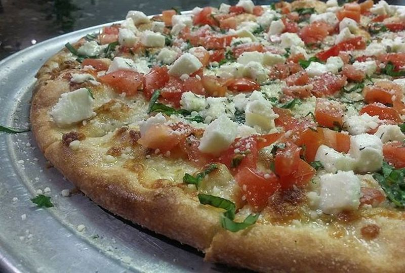Caprese Pizza made with love. Pizzaporn Pizzaboss Pizza Pizzamaster Foodporn Foodie Pizzaspecial