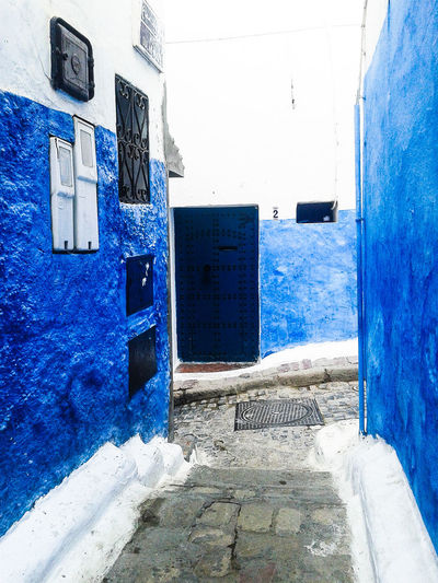 ... Blue door 💙 !!! Morroco Photograph Photography MoroccoTrip Rabat Morocco 🇲🇦 Good Times Morocco_travel Sunny Day EyeEm Best Shots EyeEm Photographylovers Streetphotography Oudaya Blue Walls Rabat Morocco Colors Photooftheday Goodmemories EyeEmBestPics Blue Door Door Photographic Memory Blue Architecture Building Exterior Close-up Built Structure Sky