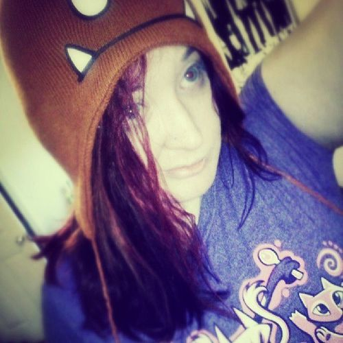 Can't tell but I'm wearing a Goomba hat and a Pokémon shirt. Iggppc30d . Day8 retro