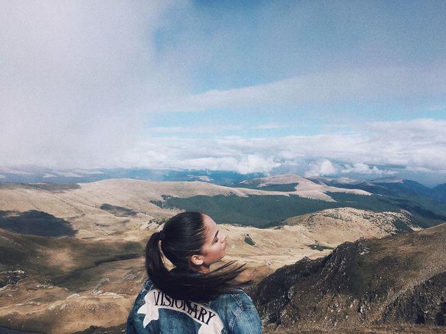 EyeEmNewHere Mountain Mountain Range One Person Nature Cloud - Sky Landscape Sky EyeEmNewHere