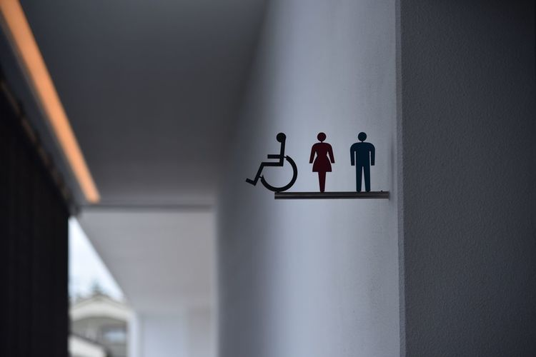 Signs on wall