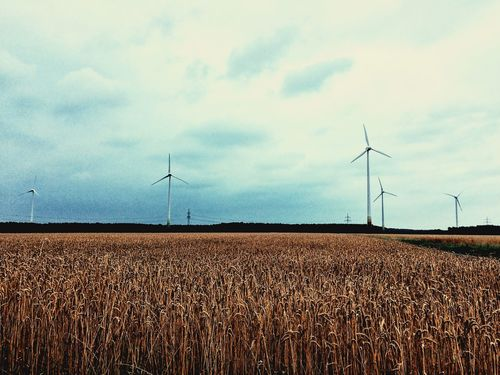 Rotor Windräder Agriculture Alternative Energy Energy Field Industrial Windmill Landscape Nature No People Outdoors Renewable Energy Technology Wind Power Wind Turbine Windmill