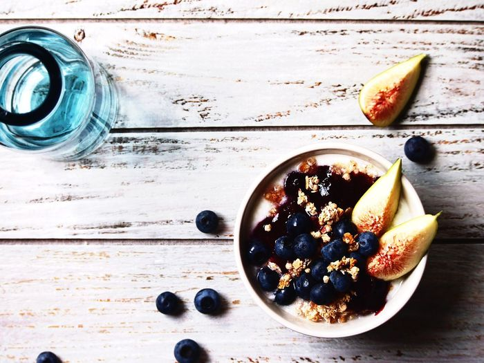 The Week On EyeEm Fruit Food And Drink Healthy Eating Freshness Table Blueberry Bowl Close-up High Angle View Food Styling My Point Of View Simplicity Smoothie