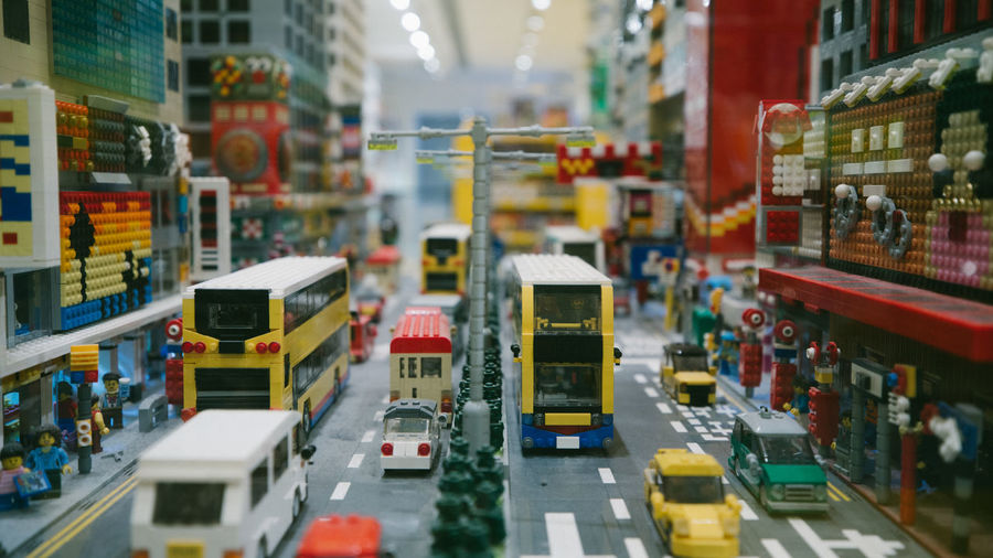 LEGO Legophotography City Street Transportation Mode Of Transportation Car Motor Vehicle Architecture City Life City Street Land Vehicle Incidental People Building Exterior Built Structure Traffic Selective Focus Road Outdoors Taxi Motion