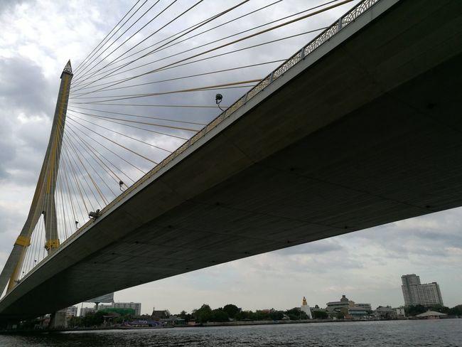 Under The Rama8 bridge Travel Destinations Travel The Chao Phraya River Cloud - Sky Thailand🇹🇭 HuaweiP9 Oo