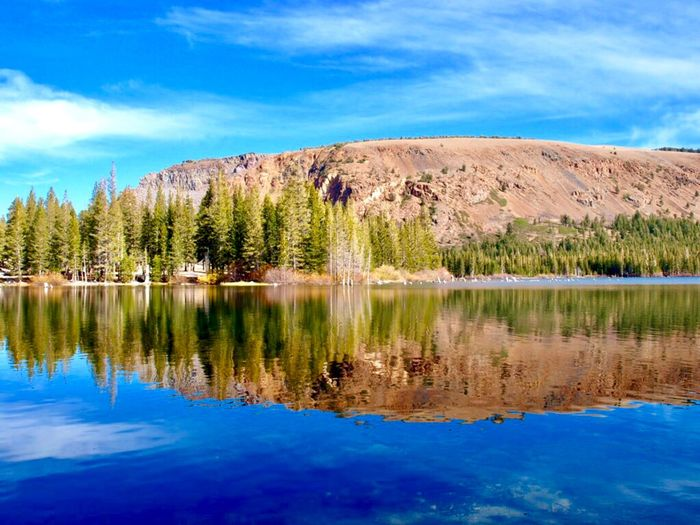 Lake Mary Mammoth Lakes, CA Eastern Sierras Water Sky Reflection Tree Lake Cloud - Sky Beauty In Nature Scenics - Nature Tranquil Scene