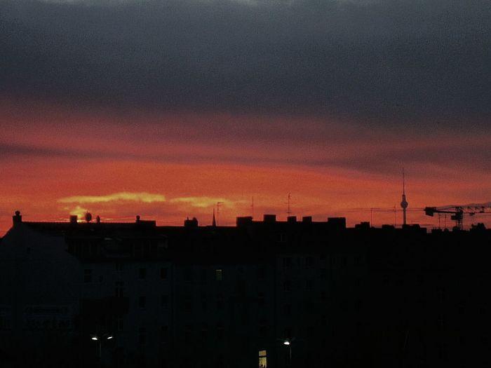 Phenomenal Dawn this Morning. Berlin Skyline
