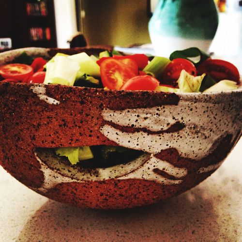 Taking Photos Enjoying Life Pottery Check This Out Clay Handmade My Work Salad Rustic My Hobby