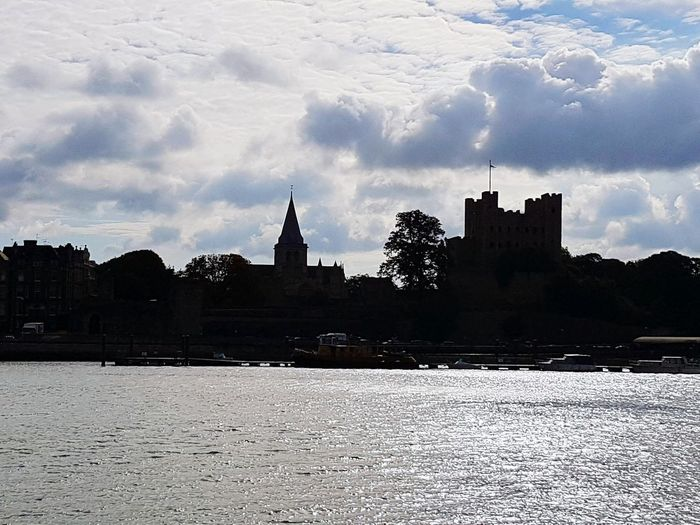Silhouette Urban Skyline Historical Building Historical Monuments Rochester Castle