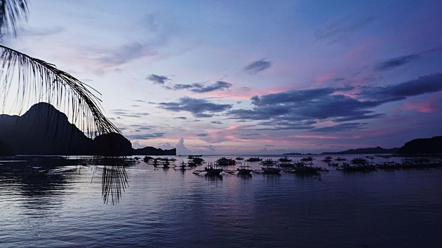 Sky Sea Cloud - Sky Water Sunset Nature No People Outdoors Built Structure Architecture Beauty In Nature Scenics Nautical Vessel Day Eyeem Philippines Philippines Palawan Philippines