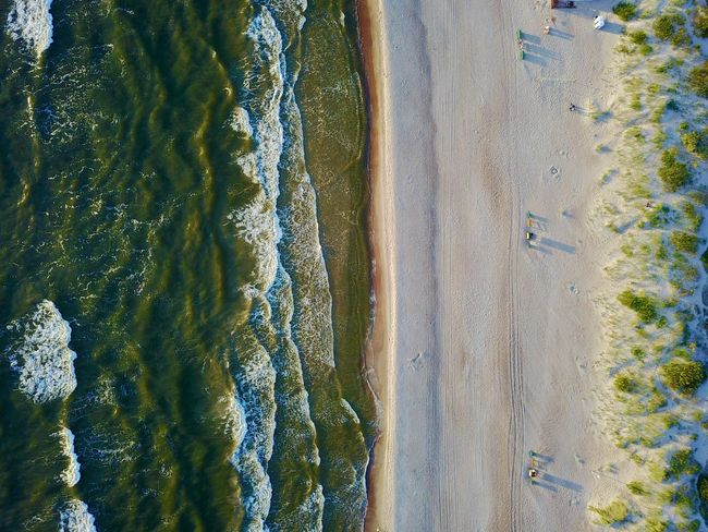Lithuanian seaside Beach Beauty In Nature Day Motion Nature No People Outdoors Power In Nature Sand Scenics Sea Water Wave