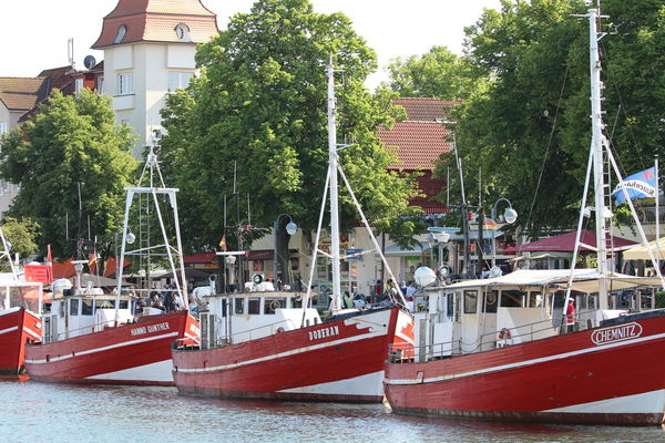 City Day Fisherboats  Harbour Mode Of Transport Nautical Vessel Summer Three Booats Transportation Water