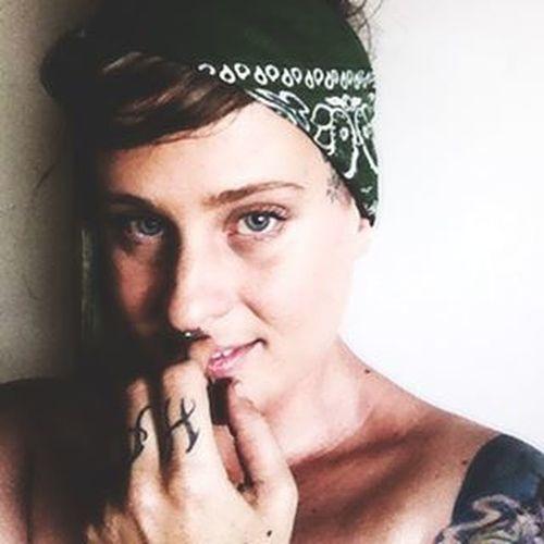 Houseofphoenixeleven Wearyourartonyoursleeve Tattoos Selfiesfordays Bandana Tattoo BlueEyes Donthate Justlove  Girlswithtatts Blazed Blazedbeauties