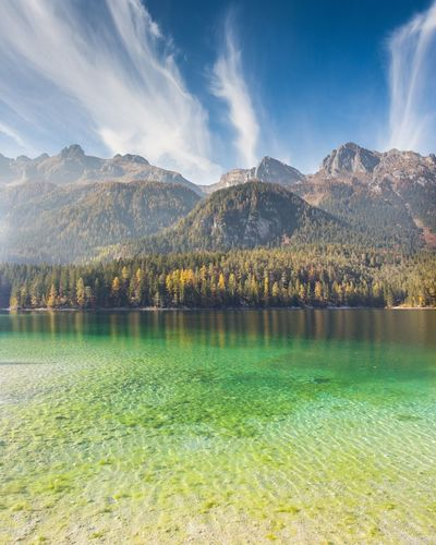 Tovel LakeMountain No People Green Color Grass Nature Beauty In Nature Scenics Sky Outdoors Day Landscape Freshness Tree Alps Alpine Valley Alpine Lake Alpine Lakes Wilderness