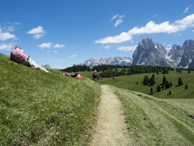 Sella_gruppe Dolomites, Italy Day Sky Nature Grass Summer Outdoors Beauty In Nature Mountain Peak Landscape Mountain Tourism Mountain Range Sellaronda Agriculture