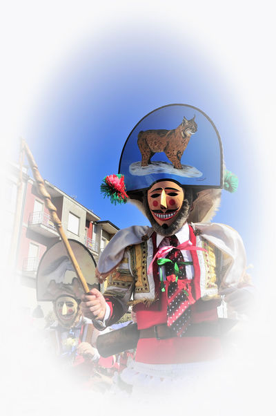 Verin Carnival Spain Tradition Verin Carnival Spain Verín Carnibal Carnibal Du Loup Childhood Clear Sky Clown Day Front View One Person Outdoors People Portrait Real People Sky Sunlight Young Adult