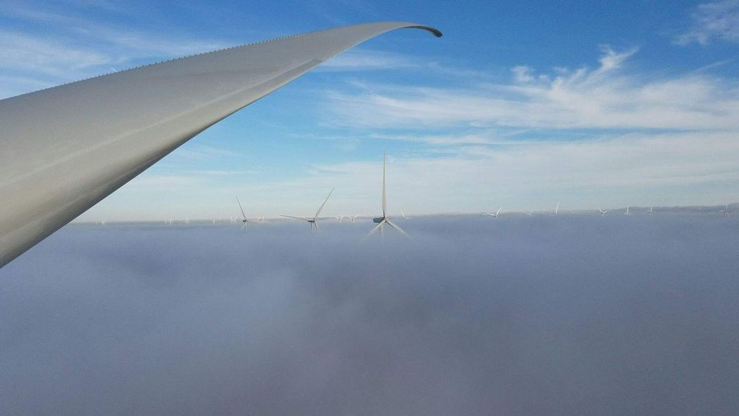 wind power Flying High Industrial Photography Industry Wind Turbine Above The Clouds Aboveandbeyond Afraid Of Height Beauty In Nature Close-up Cloud - Sky Clouds Day Diminishing Perspective Dizziness Flying Horizon Industrial Windmill Landscape Nature Outdoors Sky Steel Structure  Wind Power Wind Turbine Windmill