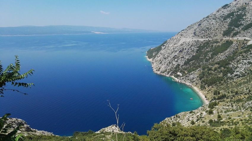 Landscape Sea Mountains Island Nature The Essence Of Summer Summer From My Point Of View Adriatic Sea Mountain Mountain View On The Way Landscape_Collection Mountain_collection Holidays In Croatia Beach Beach View Croatia Dalmatia Boats⛵️ Adventure Club Summer 2016 Water Brela  Boat
