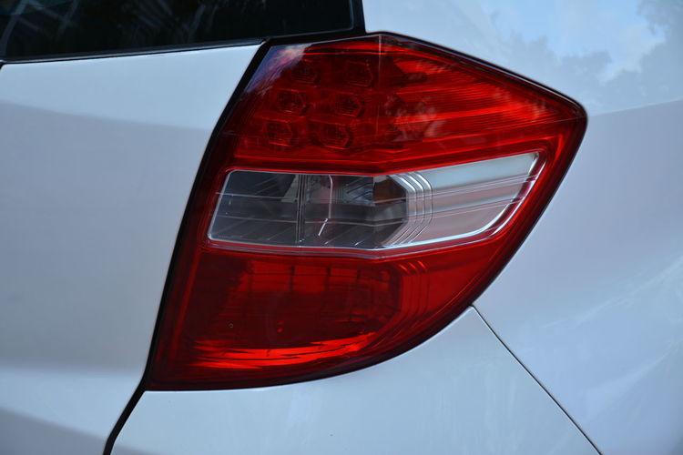 Close-up of car tail light