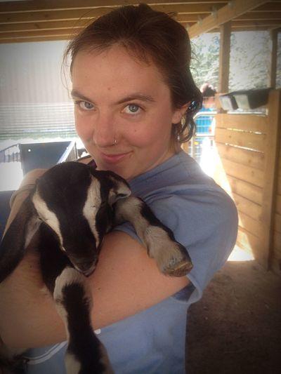 Beautiful Farmgirl Serenityacres Farmersonly Animal Photography Lovable Goatfarm Animal_collection Lovable Pets! Cute Smile Animal Goat Hello World Babygoat Goat Life Serenitygoats