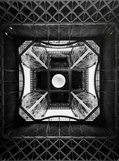 Tourists Streetphoto_bw ROLAND GARROS Eiffel Tower Abstract Urban Geometry