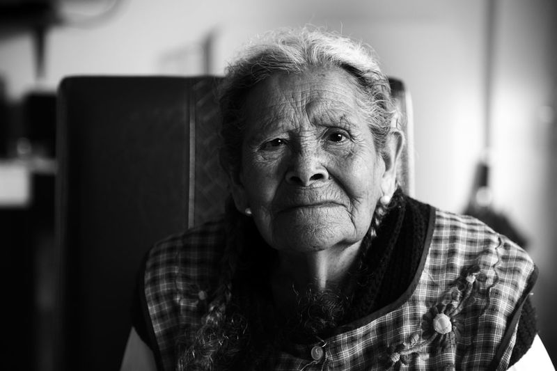 Women Who Inspire You Grandma Portrait Blackandwhite Woman abuelita en su cumpleaños 94.