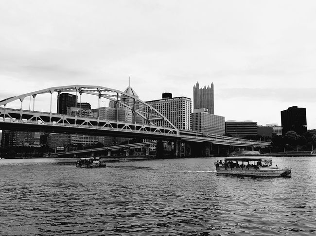Just Ducky Tours Pennsylvania Pittsburgh Tourism Business Finance And Industry Pennsylvania Beauty Beauty In Nature Tranquility Tranquil Scene Reflection Water River City Modern Bridge - Man Made Structure Rollercoaster Arts Culture And Entertainment Sky Architecture Office Building Skyscraper Urban Skyline Cityscape Skyline Tall - High Downtown The Great Outdoors - 2018 EyeEm Awards The Traveler - 2018 EyeEm Awards The Architect - 2018 EyeEm Awards