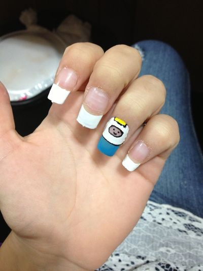 Nails Nail Art Adventure Time French Tip Nails