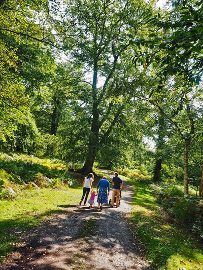 Walk to Pub Adult Bonding Casual Clothing Daughter Day Females Full Length Green Color Growth Land Leisure Activity Lifestyles Nature Outdoors People Plant Positive Emotion Real People Rear View Togetherness Tree Two People Women