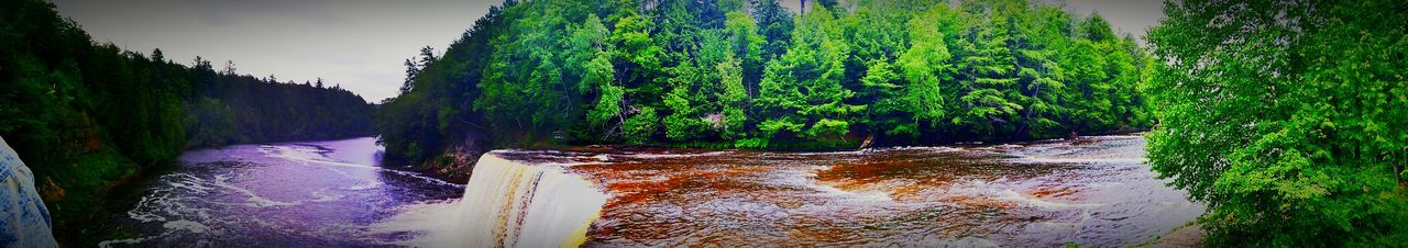 Tahquamenon River Summer Tahqamenon Falls State Park Upper Peninsula Waterfall Michigan Panoramic Photography Panoramic Panoramic View Panoramashot