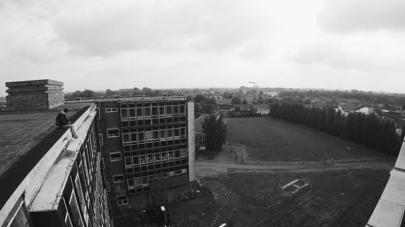 Chilling. Abandoned Places Explore Urbex Urban Exploration Abandoned Gopro Photography Rooftop Rooftopping Black And White