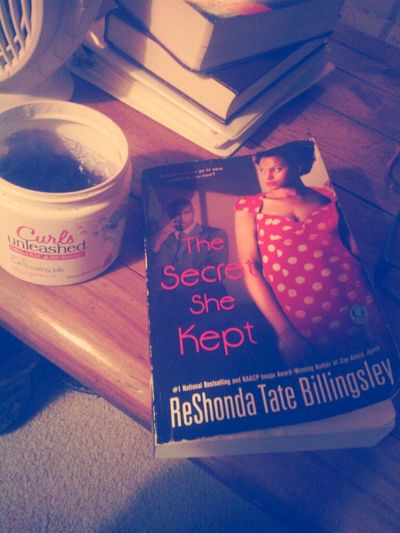 The secret she kept. A new book I started today, its really good.