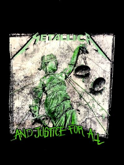 Metallica! Green Color MetallicaAlbums Lady Justice LadyJustice Scales Of Justice Blind Justice MetallicaTshirts Metallica Albums Metallica T-shirts Text Taking Photos And Justice For All ⚖️ Music Heavy Metal Heavymetal Band Justice T-shirt Tshirt T Shirt T-shirts Tshirts T Shirt Collection AndJusticeForAll⚖️ Justice ⚖️ And Justice For All Metallica Western Script Information
