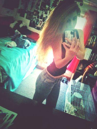 Mirror Pic Selfie Getting Skinny Longhair #brunette