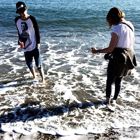 Sound Of Life My sound of life is hearing my loved ones laugh, the water was freezing but we all had such fun, this is my boyfriend and my mum caught in a moment of bonding 😍 Love Family❤ Sea Beach Beauty