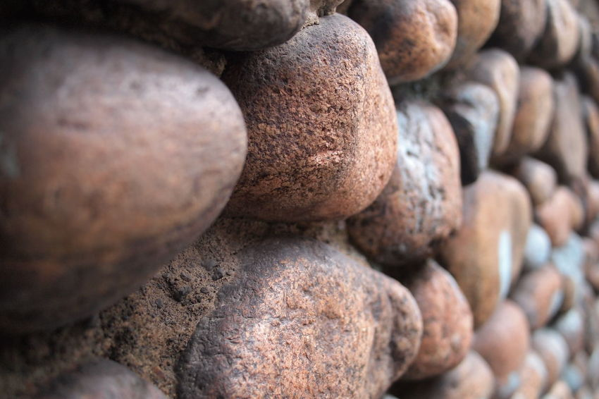 Form Shape Close-up Day Nature No People Outdoors Pattern Shapes And Forms Stone Stone Material Stonewall