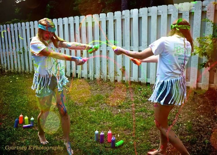 Courtney E Photography Bokeh Paint War Summer
