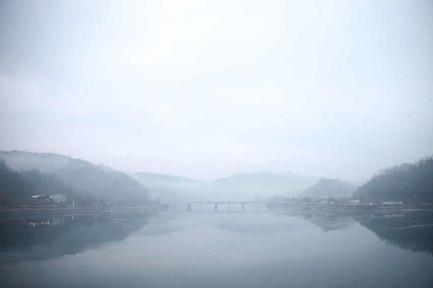 No Corruption Reflection Foggy Weather Riverside River View Fog 5dMarkⅡ 5Dmark2 Cannon Photo Scenery EyeEmNewHere