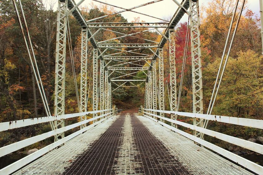 Architecture Bridge - Man Made Structure Built Structure Fall Color Fall Colors No People Outdoors Rusty Steel Bridge The Way Forward