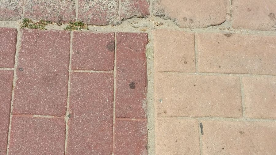 Brick Walkway Two Tones Of Colour Pattern, Texture, Shape And Form Simplicity This Week On Eye Em The Purist (no Edit, No Filter) Simple Beauty Check This Out! Simple Minimalism Pink Color Reddish Color Fun
