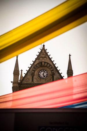 Colourful Bombay Clocktower Kalaghoda Mumbai Cloth Colours Architecture Building Exterior Built Structure Low Angle View No People Outdoors Clear Sky Day Sky