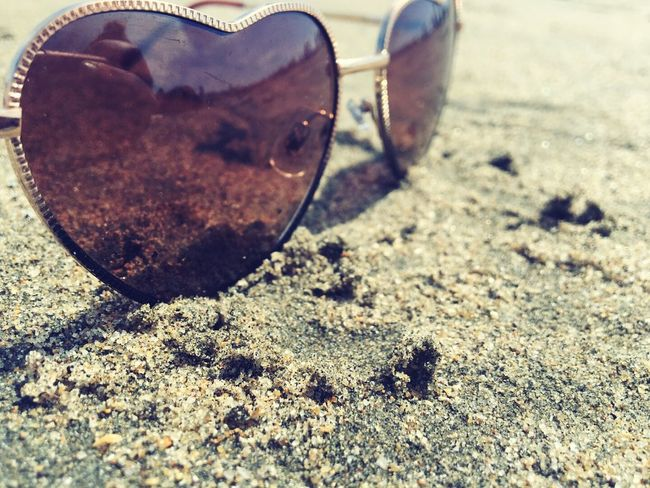 Things I Like hot summer days The Beach  Sand Heart ❤ Fine Art Photography Fashion In The Sand Sea View Sun Shades