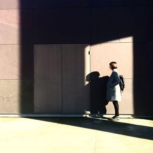 an open door EyeEm Best Shots Eye4photography  EyeEm Best Edits EyeEmBestPics Shadow Shadows & Lights Wall Girl Shadowplay ShotOniPhone6 EyeEm Gallery