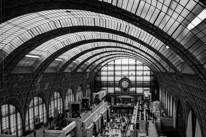 Arquitecture Curve Orsay Museum B&w Light Ceiling