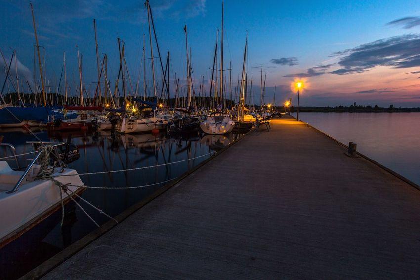 Harbour Night Lights Sea