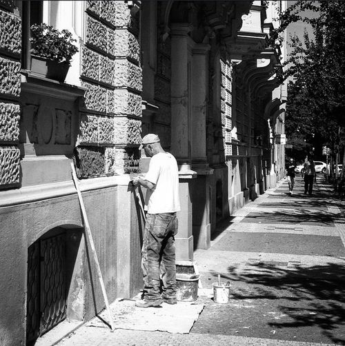 Street photography in Prague Streetphoto_bw Mobilephotography Blackandwhite Prague