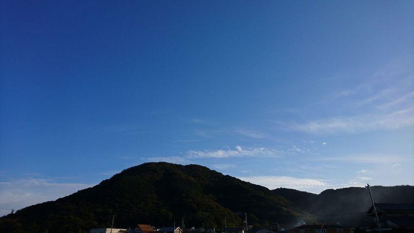 青空と山 Mountain No People Blue Outdoors Nature Day Sky