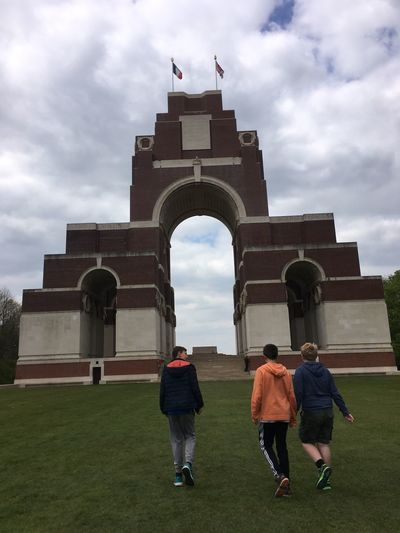 Cloud - Sky Sky Architecture Built Structure Real People History Men Building Exterior Travel Destinations Walking Women Day Outdoors Grass Togetherness Full Length Adult People Memorial Ww1 Missing