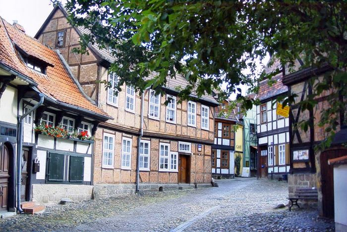 Goslar old Town Architecture Built Structure Building Exterior Tree Building Plant Day House Residential District No People Outdoors Window Street Roof History Old