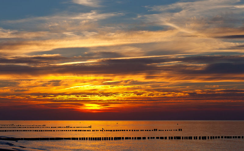 Baltic Sea Mecklenburg-Vorpommern Ostsee Beach Beauty In Nature Cloud - Sky Day Dramatic Sky Horizon Over Water Nature No People Orange Color Ostseeküste Deutschland Outdoors Sand Scenics Sea Silhouette Sky Sunset Tranquil Scene Tranquility Water